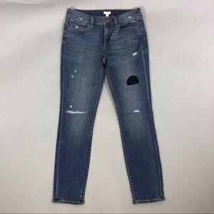 J. Crew factory distressed skinny jeans